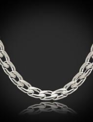 u7® nunca se desvanecen enlace collar de cadena cubana de los hombres para los hombres 316l 18inches de 5 mm de acero de titanio (46cm)
