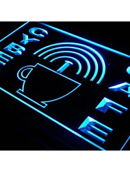 i332 Cyber Cafe Internet access Wi-Fi Neon Light Sign
