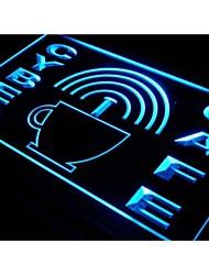 i332 Cyber Cafe conexión a Internet Wi-Fi luz de neón