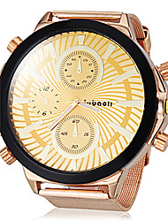 JUBAOLI® Men's Big Dial Gold Steel Band Quartz Wrist Watch (Assorted Colors) Cool Watch Unique Watch