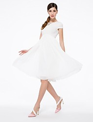 Women's Dress , Chiffon/Cotton/Spandex/Polyester Maxi Short Sleeve