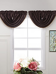 "(One Piece) Graceful Bourgogne massif Cascade Valance - 31W x 25 ""L"