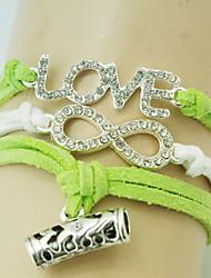 shixin® clásico diamanted amor pulsera del abrigo forma 8 (1 unidad)