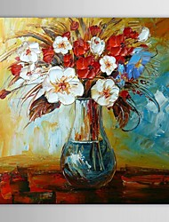 Hand Painted Oil Painting Still Life Vase Flower with Stretched Frame