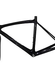 700c alta qualità full carbon piuma leggero telaio bici da strada con forcella rigida colore naturale