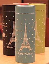 Coupe vide Motif Tour Eiffel en acier inoxydable de couleur aléatoire, L4.5cm x W4.5cm x H16.5cm