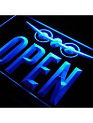 j731 OPEN Travel Agent Aeroplane Shop Neon Light Sign