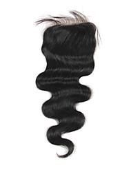 Haute Qualité cheveux brésilien dentelle Fermeture Carrosserie vague 20inch En stock