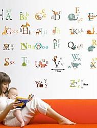 Createforlife ® bande dessinée d'alphabet Lettres enfants de pièce de crèche d'art de mur Autocollant Stickers muraux