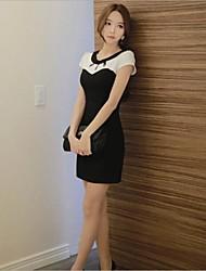 Taichang ™ Frauen Hohlkreuz V-Ausschnitt Design-Kleid