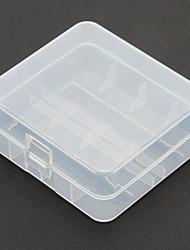 2 Pcs/Lot Hard Plastic Battery Storage Box for 26650 Battery