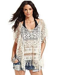 Women's Gold Coast White Crochet Fringe Cover-up