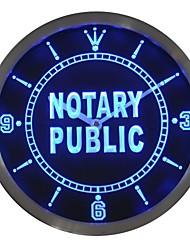 nc0457 notaire enseigne au néon Horloge murale LED