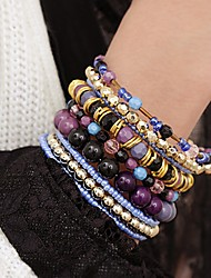 Bailier Bohemian Stretch Beads Crystal Bracelet