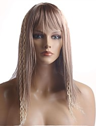 Long European Straight  Light Blonde Heat-resistant Fiber Hair Wig