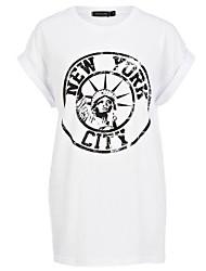 RICHCOCO Женская Нью-Йорк рисунок футболка в верхнем качестве