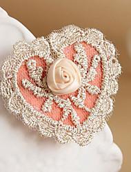 Handmade Rozen Maiden Pure Heart Rose in der Knospe rosa Spitzen Lolita Haarnadeln