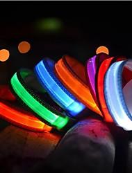 Gatti / Cani Collari Luci a LED Tinta unita Rosso / Bianco / Verde / Blu / Giallo / Arancione Nylon