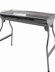 Stainless Steel Field Portable Folding Charcoal Grill,91x73x34cm