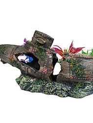 Restos Submarino Diseño resina de la decoración del ornamento de Acuario