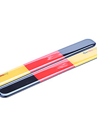 Simple Germany Flag Pattern  Rearview Mirror Anti-collision Labeling Decal Sticker Protector(2pcs)