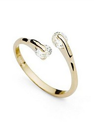 Women's  Fashion Unique Design Plated 18K Gold  AAA CZ Rings