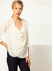 The One & Only Women's  New Style U-Neck Long Sleeve Sexy Blouse N6186085