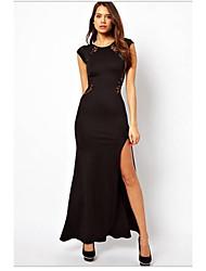 KICAI Encaje vestido largo (Negro)