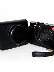 """""""Sempre pronto"""" Protective Leather Camera Case Capa Bolsa para Câmera Digital Leica C"""