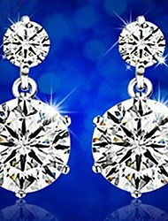 Sillove Women's Fashion High Grade Rhinestone Stud Earrings
