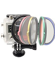2014 New Arrival camera accessories 52mm Flip Converter for Gopro 3+ Housing - 5 Colors Available