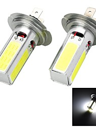 High Power H7/H4/T20 20W 6500K 1300lm 4-COB LED Cool White Car Head Light / Foglight (12~24V / 2 PCS)