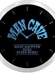 nc0701 Cave Man Ce qui se produit ici reste ici Néon LED Horloge murale