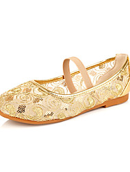 Girl's Shoes Wedding Shoes Comfort/Mary Jane/Round Toe Flats Wedding/Dress/Casual/Party & Evening Pink/Silver/Gold