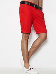 Olrik cotone Skinny mezzo lunghezza Pants (Red)