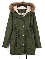 Women's Winter Hoodie Removable Trench Coat Jacket Parka Overcoat