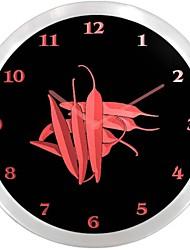 nc0961 Red Chili Peppers enseigne au néon Horloge murale LED