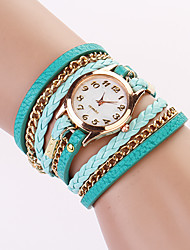 Koshi 2015 Women' Fashion Rivet Chain Watch(Light Blue)