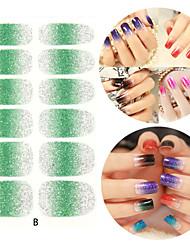 28PCS Glitter Verlaufsart Nail Art Sticker B-Serie