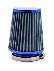 """TIROL Round Tapered Mini Power Stack Filter 3"""" Auto Cold Air Intake Blue Air Filters Diameter 76mm"""