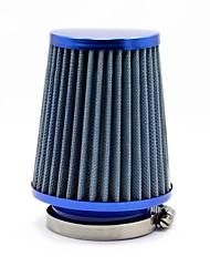 "TYROL conique ronde Mini Power Stack Filtre 3 ""Intake Auto froide Blue Air Filtres à air Diamètre 76mm"