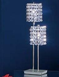 Mesa moderno lâmpadas 2 Luz G9 lâmpadas incluídas cromo de prata do metal