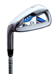 TTYGJ Golf Club 37 Zoll 7 # S / R Hand Zinc Alloy Linke Leiter Graphitschaft Blau Irons