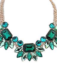 Women's European FashionFlowers Glass Bead Assemble 2 Chains Dazzling Statement Necklace (More Colors)(1 pc)