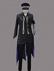 Inspired by Cosplay Cosplay Anime Cosplay Costumes Cosplay Suits Patchwork Black Long Sleeve Tuxedo / Shirt / Pants / Hat / Tie