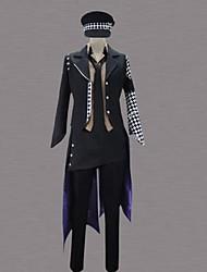 Inspirado por Fantasias Fantasias Anime Fantasias de Cosplay Ternos de Cosplay Patchwork Preto Manga CompridaSmoking / Camisa / Calças /