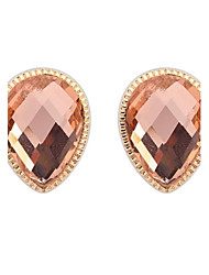 Women's European Elegant Oval Alloy Crystal Stud Earrings (More Colors) (1 Pair)