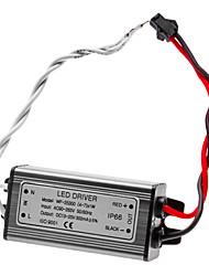 Résistance à l'eau 4-7W LED driver à courant constant Source d'alimentation électrique (90-265V)