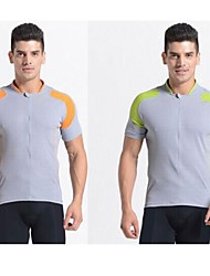 JAGGAD Cycling Tops / Jerseys Men's Bike Breathable / Quick Dry Short Sleeve Polyester / Elastane Green / Orange S / M / L / XL / XXL