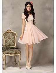 Women's  Slim Elegant Lace and Chiffon Dress